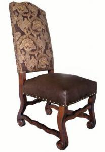 Monsoon PacificBarcelona Side Chair Fabric and Leather